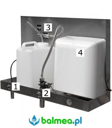 Zalustrowy dozownik mydła suszarka do rąk i bateria termostatyczna