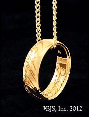 Jedyny pier cie LOTR Gollum Gold Necklace Black