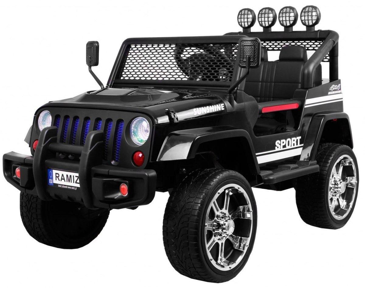Jeep raptor drifter 4x4 new czarny jeep dla dzieci na akumulator z napędem na 4 koła