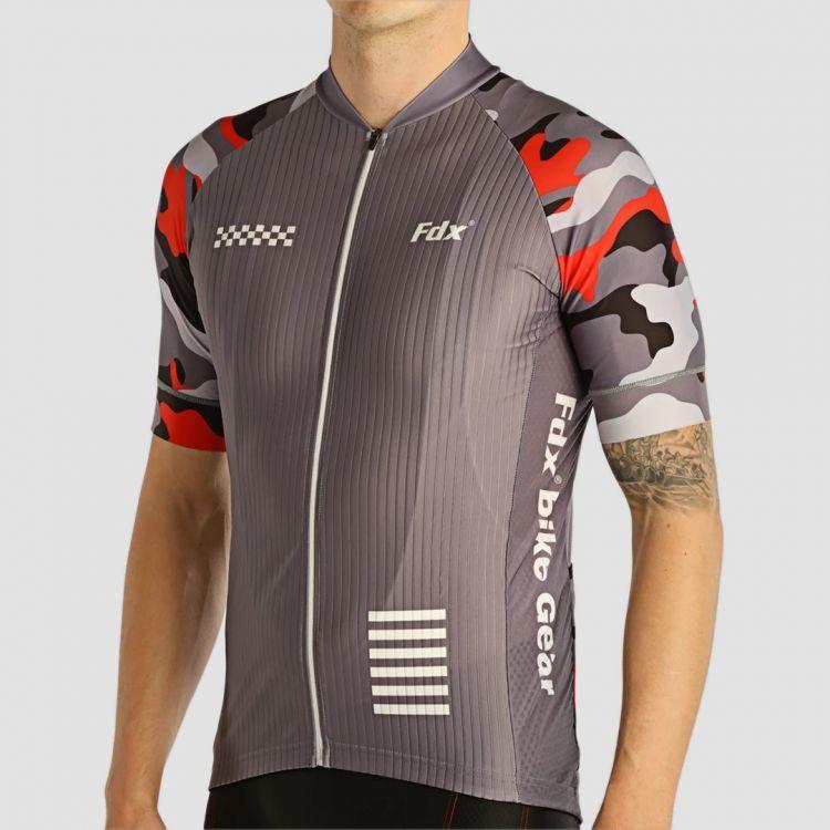 FDX 1890 męska koszulka rowerowa szara Rozmiar: M,FDX_1890_koszulka_szara