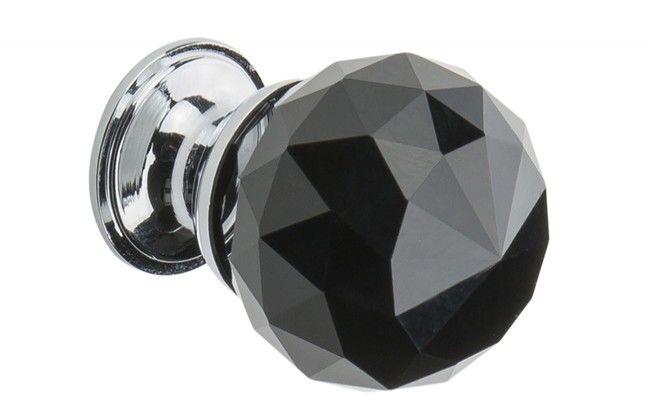 Uchwyt meblowy KRYSZTAŁ kula 25 mm, czarny