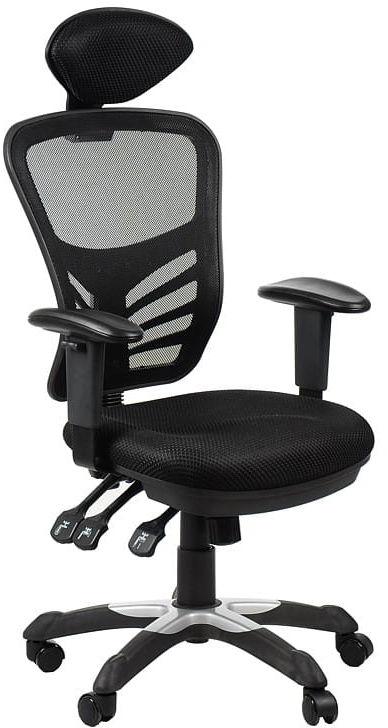 Fotel obrotowy biurowy HG-0001H/CZARNY krzesło obrotowe