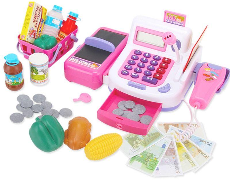 WOOPIE Kasa Sklepowa dla Dzieci Kalkulator Mikrofon Wyświetlacz LCD LK