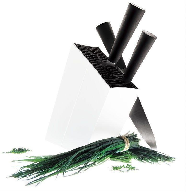 Eva solo - stojak na noże, ukośny - kolor biały