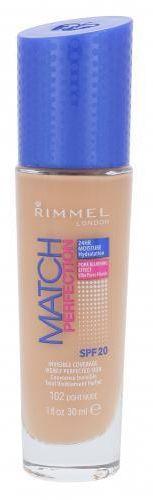 Rimmel London Match Perfection SPF20 podkład 30 ml dla kobiet 102 Light Nude