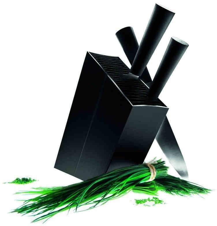Eva solo - stojak na noże, ukośny - kolor czarny