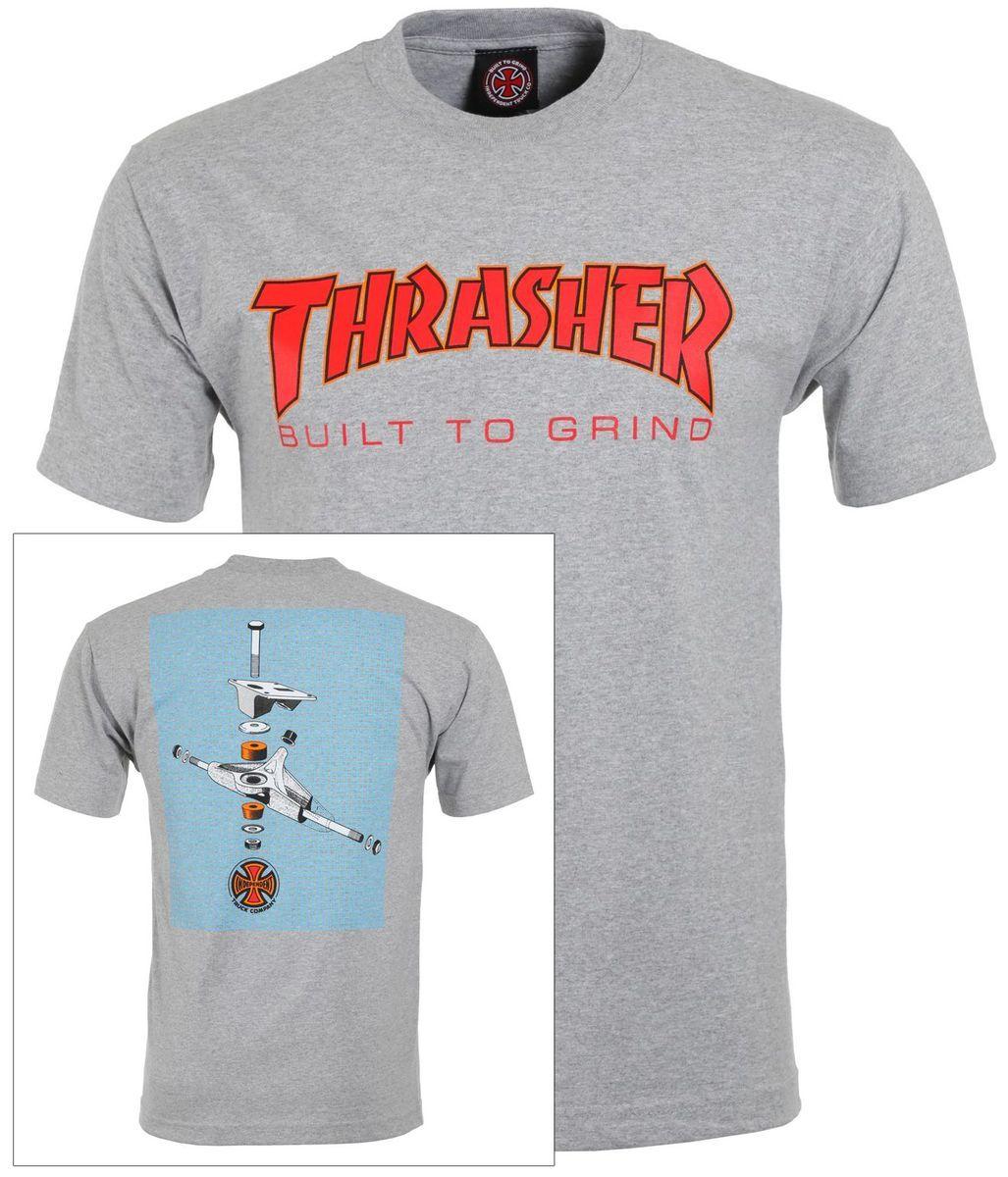 t-shirt męski THRASHER (INDEPENDENT) BTG REGULAR TEE Athletic Heather