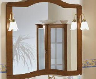 Lustro IRIS 117 x 109 x 25cm + 2 lampy RETRO
