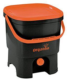 cuisine-c 019750006 sztuk Organico Eco kosz na odpady z tworzywa sztucznego brain, czarny, 32 x 27 x 37,5 cm
