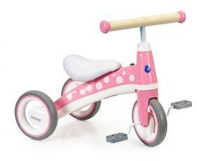 Rowerek trójkołowy z pedałami jeździk - różowy