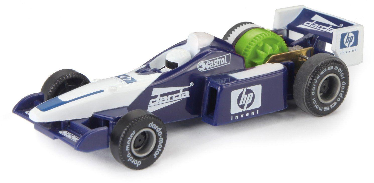 Darda 50323 Formuła wyścigowa zabawka samochód, samochód wyścigowy Formula niebieski/biały