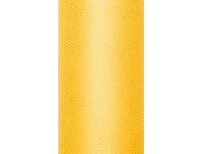 Tiul gładki żółty - 30 cm x 9 metrów - 1 szt.