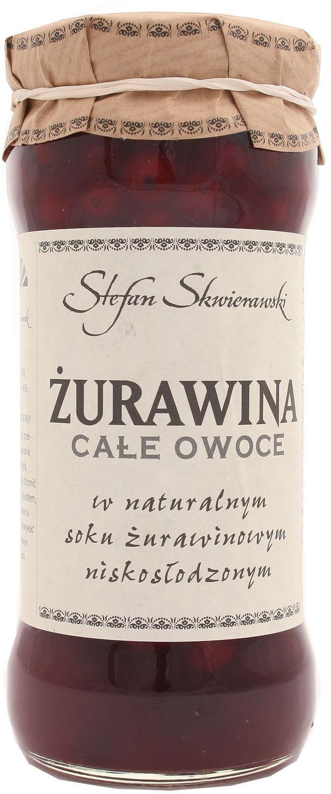 Żurawina całe owoce - Skwierawski - 360g