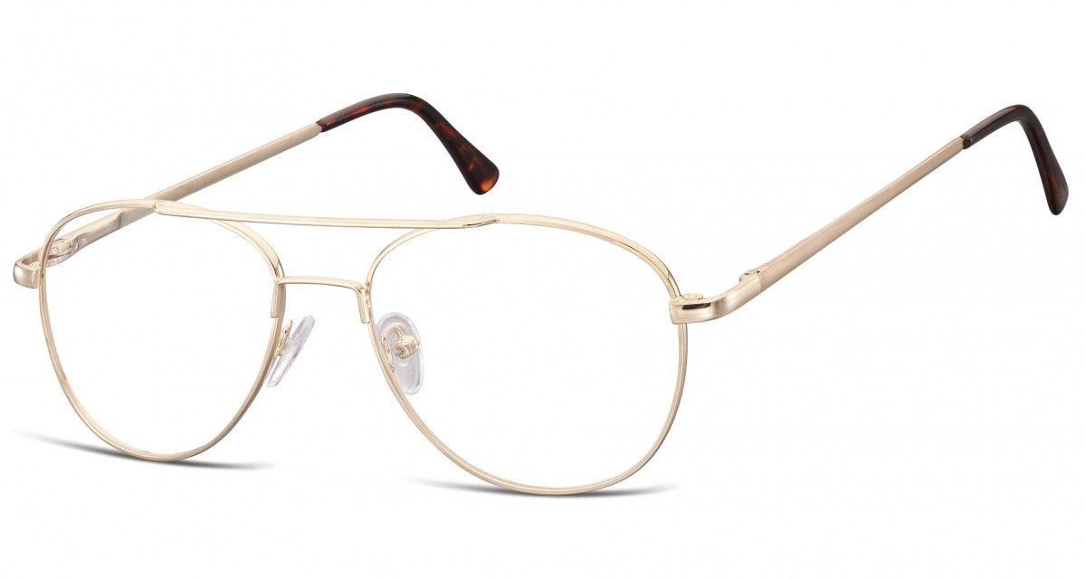 Okulary oprawki dziecięce zerówki Pilotki MK3-44D złote