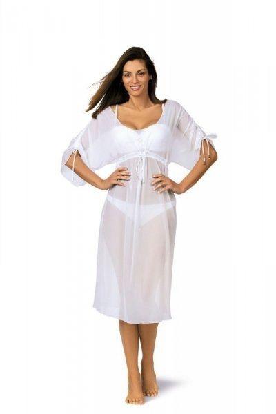 Sukienka plażowa marko dora bianco m-443 (1)