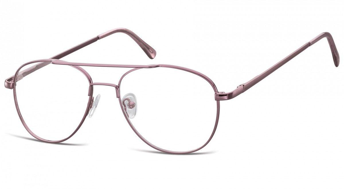 Okulary oprawki dziecięce zerówki Pilotki MK3-44E fioletowe