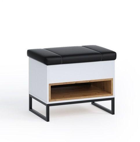 Oskar kufer ol-03 - biały/dąb artisan
