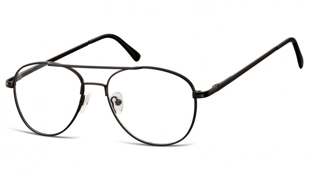 Okulary oprawki dziecięce zerówki Pilotki MK3-47 czarne