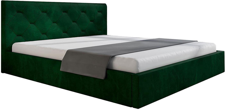 Pikowane łóżko jednoosobowe 120x200 Netta 3X - 48 kolorów