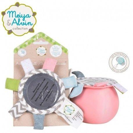Meiya & Alvin - Piłka Aktywności Sensorycznej z Lusterkiem i Grzechotką - Różowa