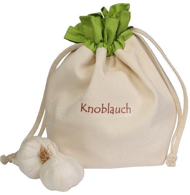 Woreczek na warzywa z bawełny, na czosnek, praktyczne i piękne przechowywanie, 15 x 20 cm