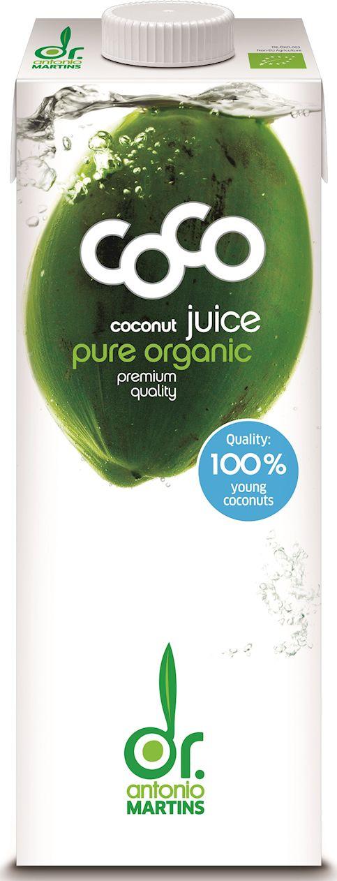 Woda kokosowa naturalna bio 1 l - coco dr. martins
