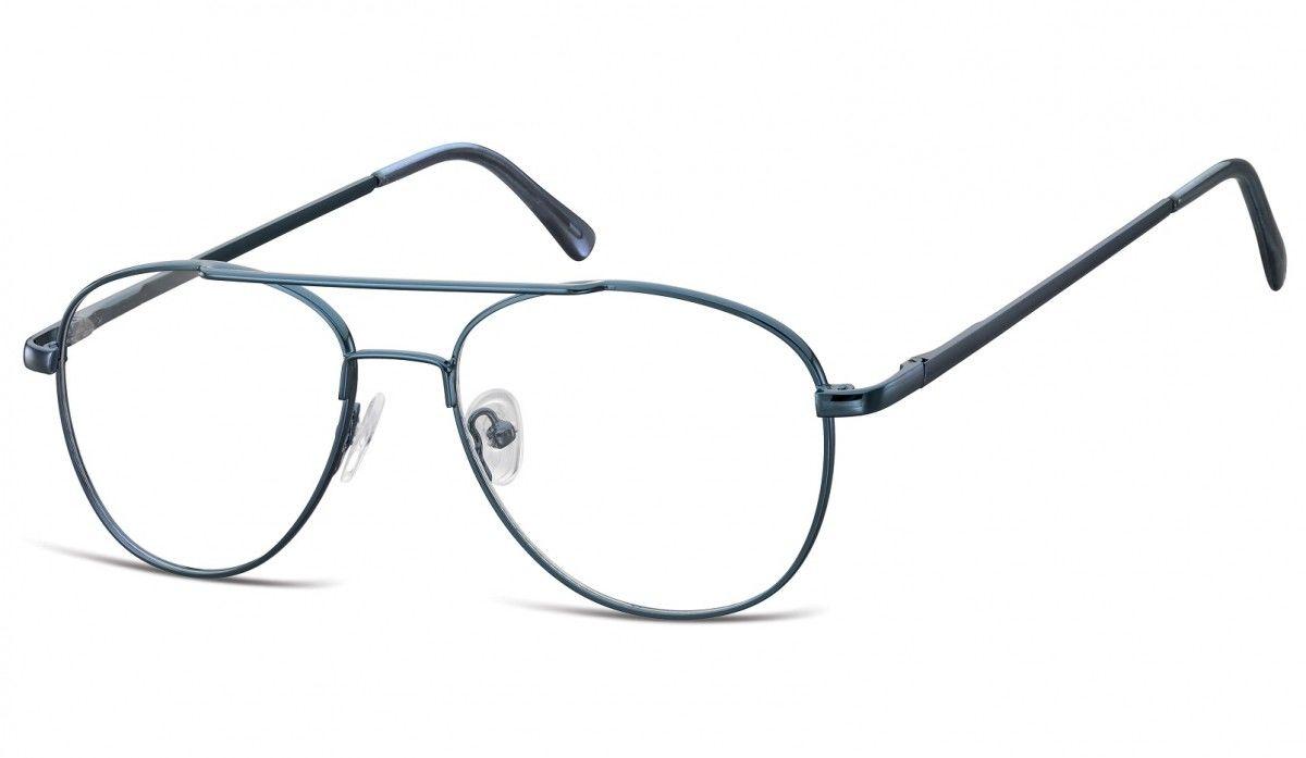Okulary oprawki dziecięce zerówki Pilotki MK3-47C ciemno-niebieskie