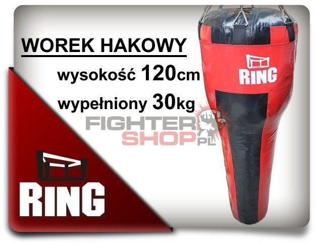 Worek bokserski hakowy 120 x 30 Ring