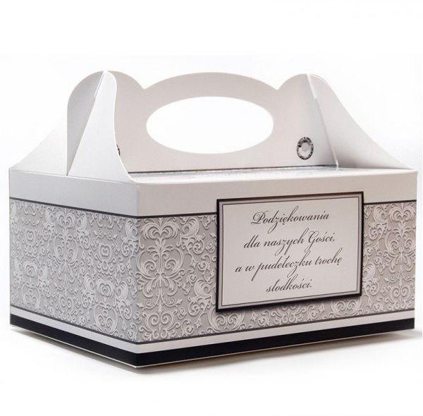 Pudełko na ciasto weselne dla Gości 1 sztuka PUDBN-1x