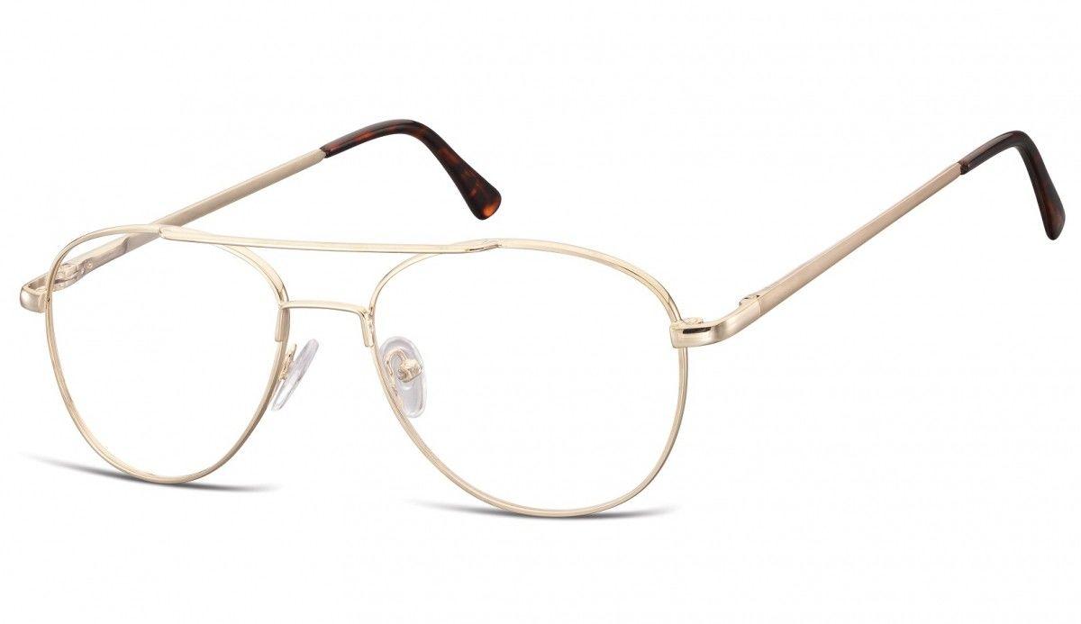 Okulary oprawki dziecięce zerówki Pilotki MK3-47D złote