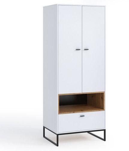 Oskar szafa ol-08 - biały/dąb artisan