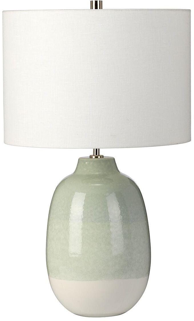 Lampa stołowa Chelsfield Elstead Lighting zielono-biała oprawa w nowoczesnym stylu