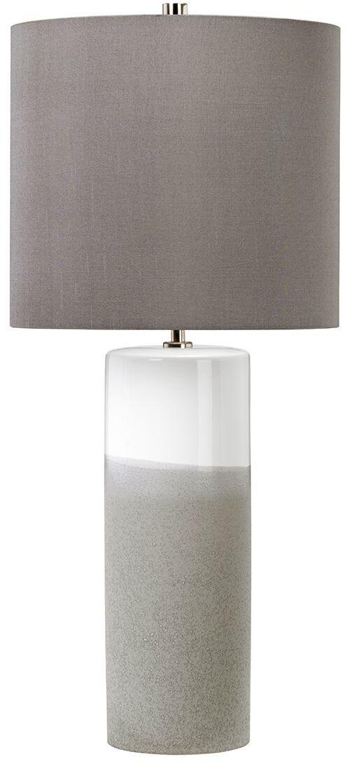 Lampa stołowa Fulwell FULWELL/TL Elstead Lighting szaro-biała oprawa w nowoczesnym stylu