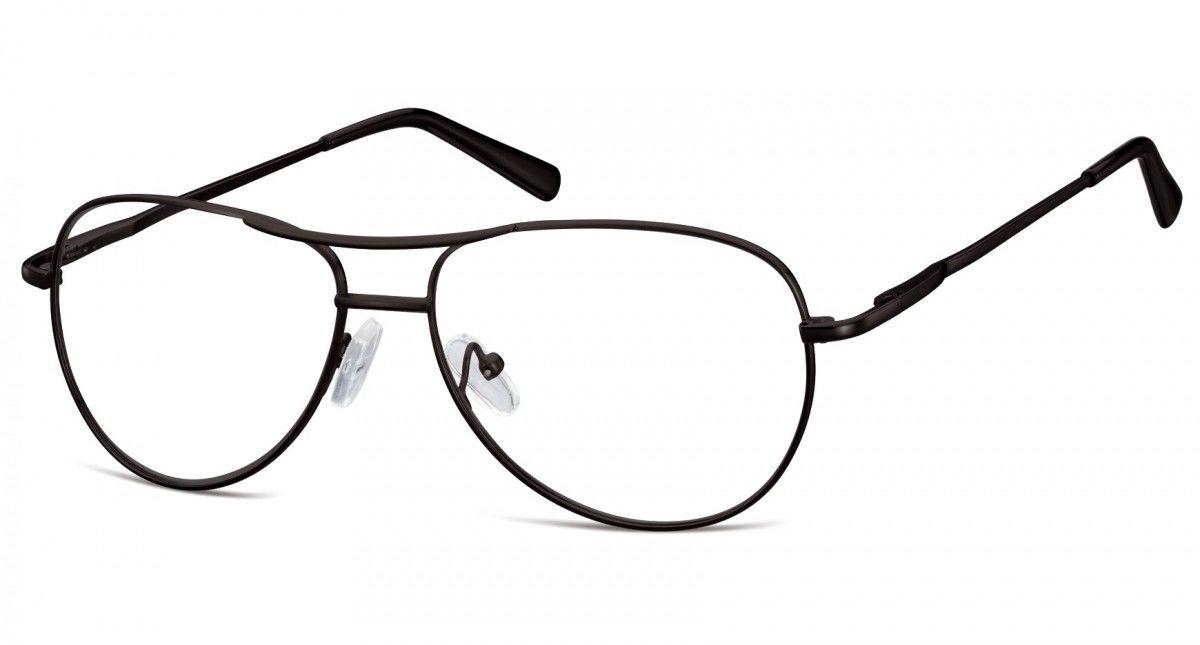 Okulary oprawki dziecięce zerówki Pilotki MK1-46 czarne