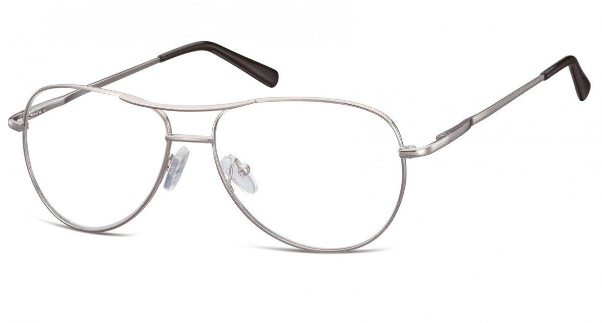 Okulary oprawki dziecięce zerówki Pilotki MK1-46B srebrne