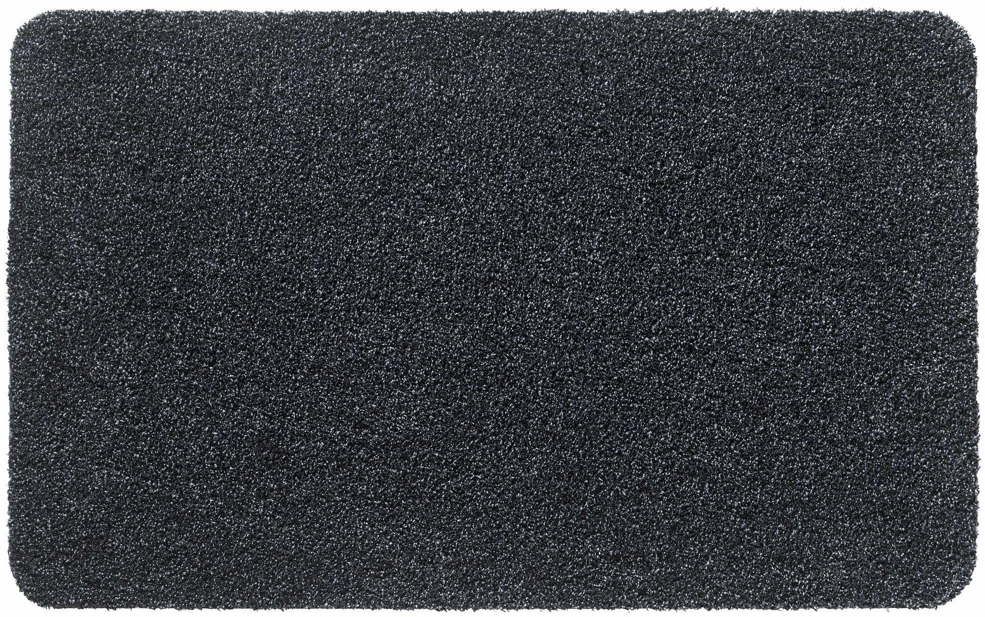 Aqualuxe mata wejściowa do użytku w pomieszczeniach poliester 50 x 80 cm antracyt