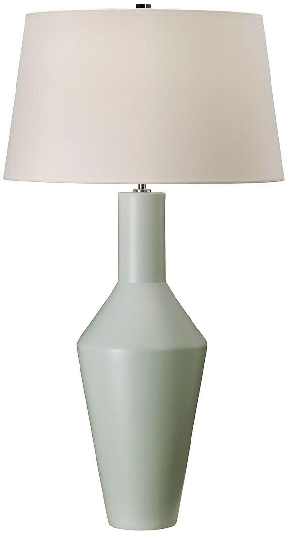Lampa stołowa Leyton Elstead Lighting minimalistyczna oprawa w kolorze zielonym