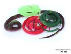 Wąż Kobra gumowy zwinięty 65cm (pełny, miękki)
