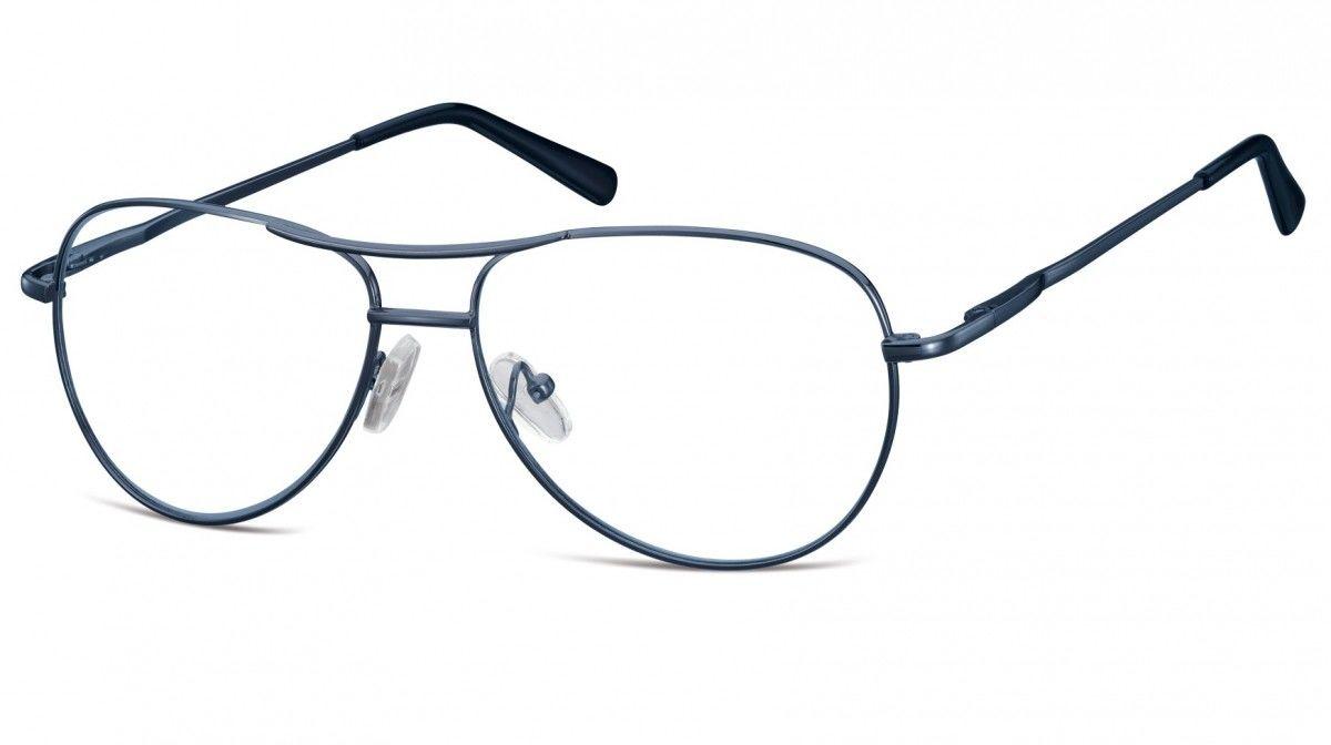 Okulary oprawki dziecięce zerówki Pilotki MK1-46C ciemno-niebieskie