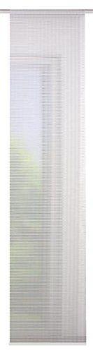 Home fashion poprzeczne paski w optyce bambusowej FABRICE, tkanina, biała wełna, 245 x 60 cm