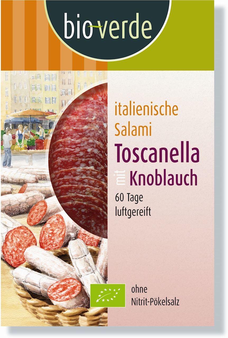 Salami toscanella plastry bio 80 g - bio verde