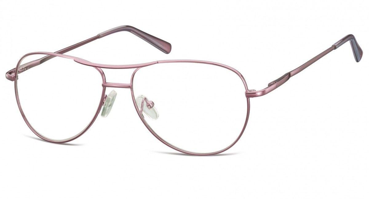 Okulary oprawki dziecięce zerówki Pilotki MK1-46E fioletowe