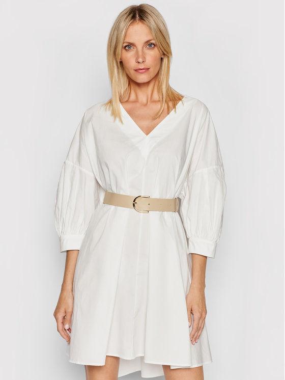 Imperial Sukienka codzienna ABWSBBD Biały Regular Fit