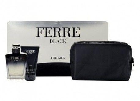 Gianfranco Ferre Black Men żel do kąpieli 100ml + kosmetyczka + woda toaletowa - 100ml Do każdego zamówienia upominek gratis.
