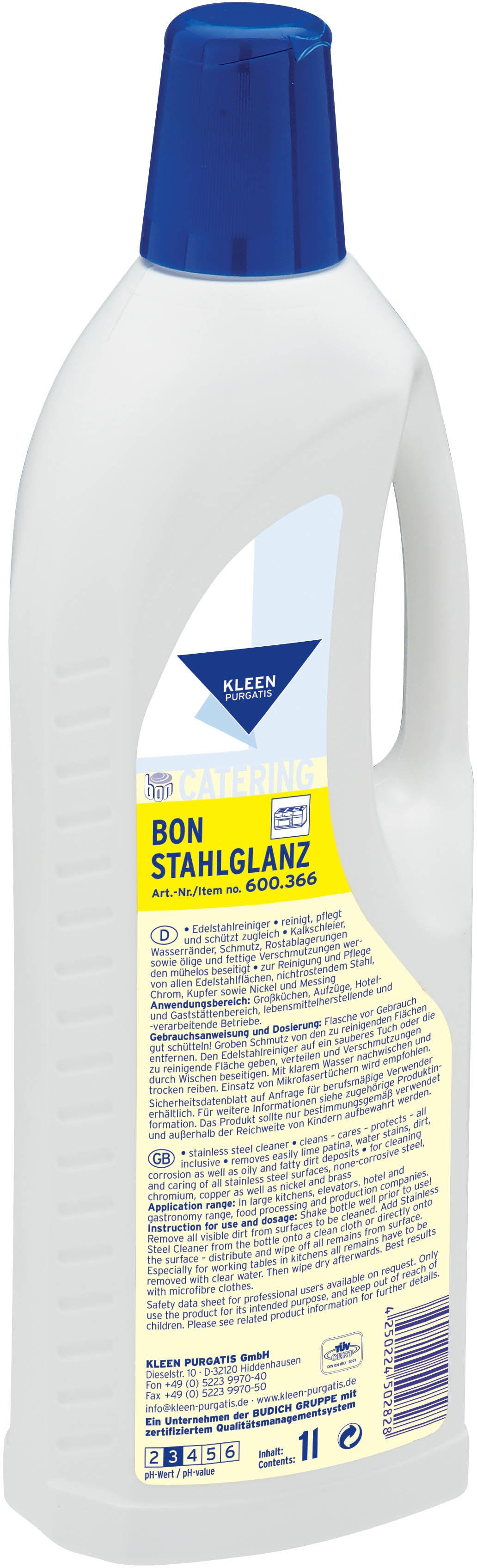 Kleen Bon Stell gloss - środek do czyszczenia powierzchni ze stali