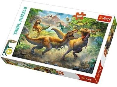 Puzzle Trefl 160 - Dinozaury, Walczące Tyranozaury, Fighting Tyrannosaurs