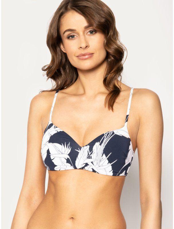Roxy Góra od bikini Printed Beach Classics ERJX304071 Granatowy