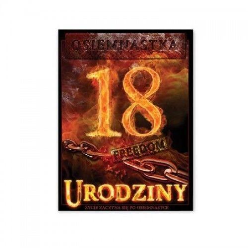 Etykieta na butelkę na 18 urodziny Ognista Impreza, 25 szt.