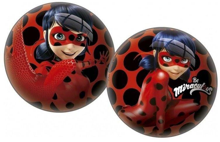 Kolorowa Gumowa Piłka Miraculous dla Dzieci 23 cm