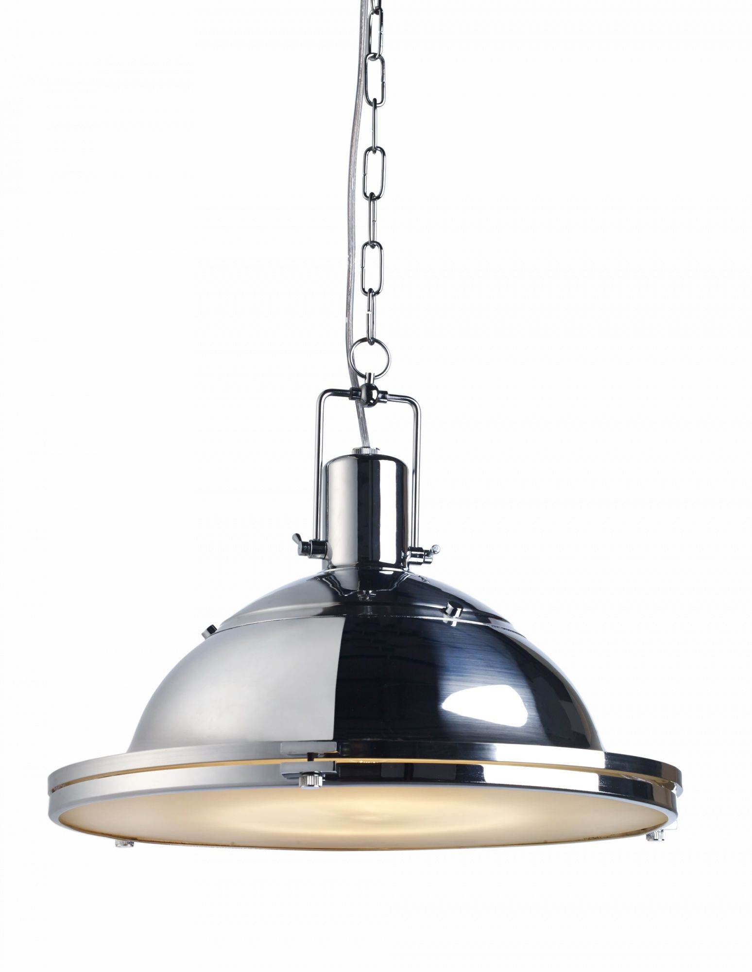 Lampa wisząca Nautilius L 10263103 oprawa chromowa Kaspa